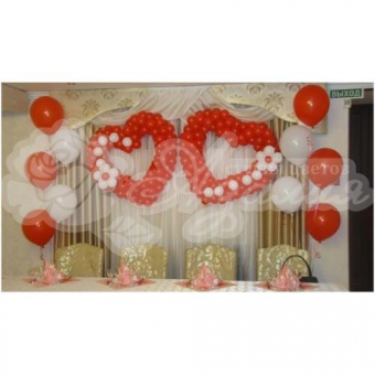 Оформление шарами на свадьбу «Комплект № 24»