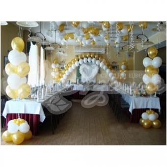 Оформление шарами на свадьбу «Комплект № 28»