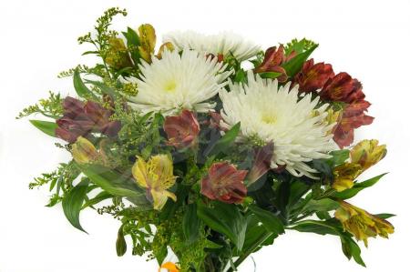 Букет из Альстромерий , Хризантем и зелени