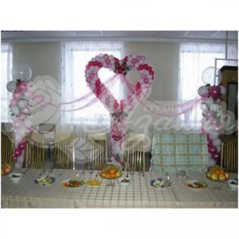 Оформление шарами на свадьбу «Комплект № 9»